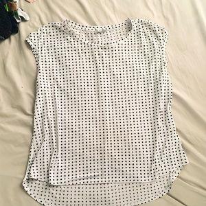 Polka Dot High Low Shirt